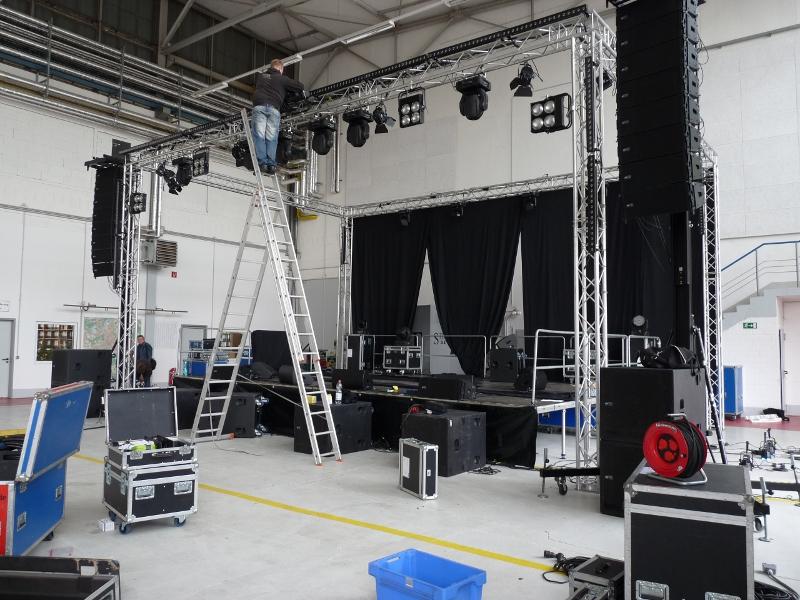 Bühnenaufbau, Alte Traffohalle Hagen