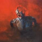 """Nightcrawler"", Acryl auf Pressholz, 200 X 100 cm (Original verschollen)"